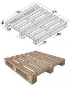 Набивные (глубинные) металлические стеллажи: американские поддоны (1200х1200х145 мм) и нестандартные поддоны