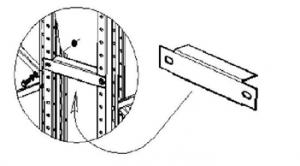 Паллетные (фронтальные) металлические стеллажи: соединители спаренных рядов