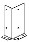 Паллетные (фронтальные) металлические стеллажи: угловая защита