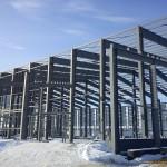 Быстровозводимое здание из металлоконструкций. Внешний каркас готов