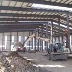 Быстровозводимое здание из металлоконструкций. Готовим фундамент для внутренних опор
