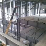 Быстровозводимое здание из металлоконструкций. Перекрытия из бетонных плит