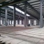 Быстровозводимое здание из металлоконструкций. Подготовка промышленного пола