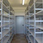 Полочные металлические стеллажи: проект архивохранилища